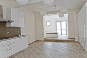 Monolocale con corte esclusiva in affitto, soggiorno